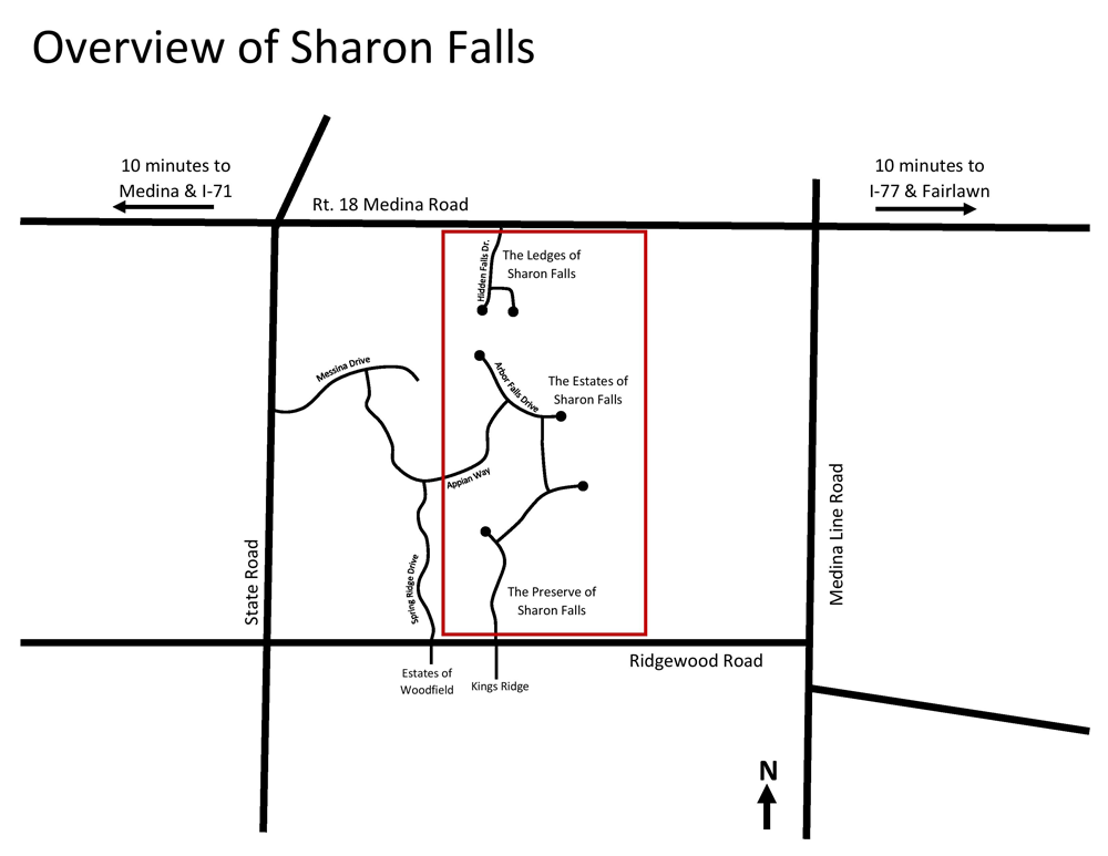 Sharon Falls Map Ohio